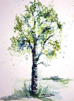 Spring Green Aspen Tree Watercolor Giclee print    This 8x12 Fine Art Giclee will be beautifully hand printed by a Professional Studio. He uses