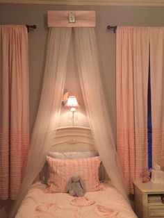 Bed Crown Canopy Teester Princess Pink LAVENDER Personalized FREE Upholstered SaLe
