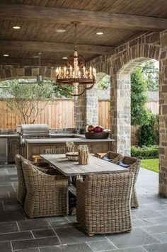 Top 50 Best Built In Grill Ideas - Outdoor Cooking Space Designs Outdoor Rooms, Outdoor Dining, Indoor Outdoor, Outdoor Furniture Sets, Outdoor Decor, Outdoor Kitchens, Furniture Ideas, Rustic Outdoor, Luxury Kitchens