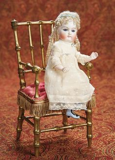 "Very Rare German All-Bisque Doll by Kestner with Jointed Knees 10"" (25 cm.)"