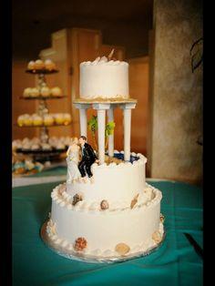 Beach wedding cake ... Barefoot cake topper