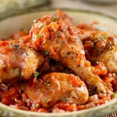 I'm always looking for really awesome and easy one pot recipes; This Easy One Pot Chicken Cacciatore is super simple to prepare and tastes amazing. Cooking Recipes For Dinner, Easy Cooking, Healthy Cooking, Healthy Recipes, Rice Recipes, Eating Healthy, Healthy Meals, Cooking Tips, Easy Recipes