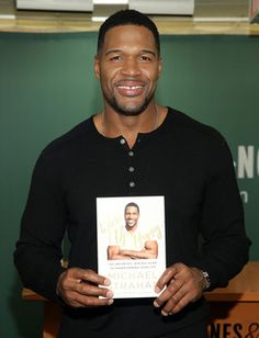Michael Strahan shares rules for life in his new book 'Wake Up Happy'  http://www.examiner.com/article/michael-strahan-shares-rules-for-life-his-new-book-wake-up-happy?cid=db_articles