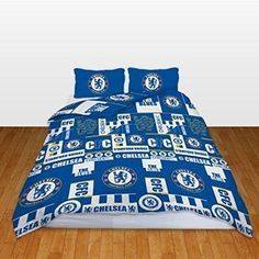 New #chelsea football club #double duvet quilt cover set boys kids blue #bedroom ,  View more on the LINK: 	http://www.zeppy.io/product/gb/2/332088891103/