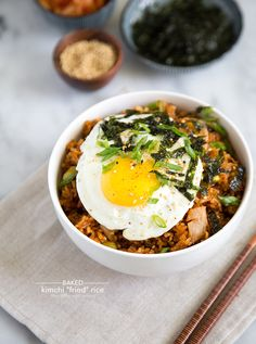 "Baked Kimchi ""Fried"" Rice - The Little Epicurean"
