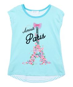 Another great find on #zulily! Aqua 'Amour Paris' Tee #zulilyfinds
