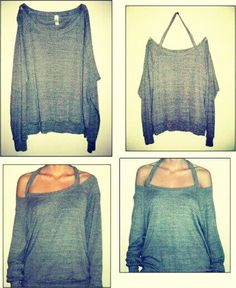 Simple and Easy Off The Shoulder Shirt ^-^!!Try this really cute and quick (:Like and follow (: