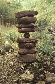 Extreme rock balancing.  Cairn.