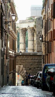 Rome ~ I love how the ruins are with the modern buildings.  One of the main reasons I really miss it