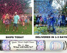 Gender Reveal Ideas| Gender Reveal Party| Gender Reveal Confetti Cannon| Confetti Balloon alt| Smoke bomb alternative| Confetti Popper|