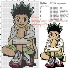 Schema punto croce Gon (Hunter x Hunter) 68x121 10 colori.jpg (1.71 MB) Mai osservato