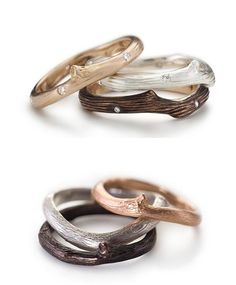 vineyard twig inspired stacking rings.