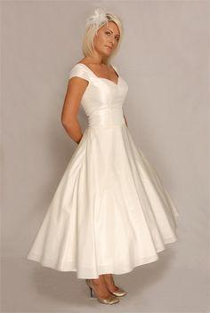1950's memorabilia | 1950s Style Wedding Dress - Ivy £495