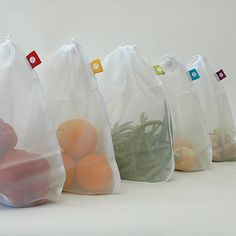 Reusable Produce Bags. I need these!