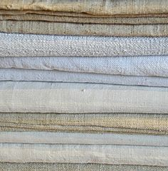 A Selection of Old French Linen Sheets in Textiles from Appley Hoare