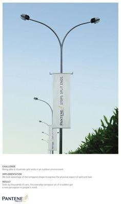 Guerrilla/Street Marketing by Pantene for split ends