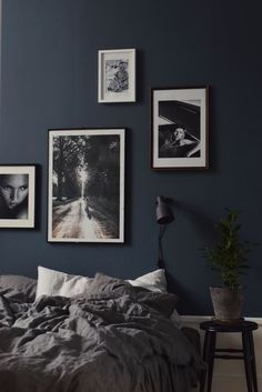 Dark walls bedroom