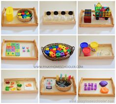 The Pinay Homeschooler: Activity Trays for 33 Month Old Toddlers