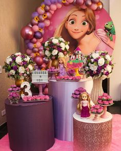Rapunzel Birthday Party, Tangled Party, 2nd Birthday Parties, Birthday Party Decorations, Disney Tangled, Unusual Wedding Cakes, Punk Disney Princesses, Princess Party, Princess Disney
