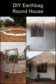 The idea of making walls by stacking bags of sand or earth has been around for at least a hundred years. Now people are using earthbags to build affordable homes. Here's how to build your own earthbag roundhouse. Sand Bag, Natural Homes, Round House, Build Your Own, Pergola, Walls, Outdoor Structures, Earth, Building