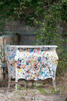 paint splatter furniture - Google Search