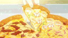 "Recipe: Pizza from ""Gourmet Girl Graffiti"" – SEVAC – SouthEastern Virginia Anime Community – Anime Bento, Anime Gifs, Anime W, Food Kawaii, Anime Kunst, Food Drawing, Aesthetic Gif, Anime Scenery, Food Illustrations"