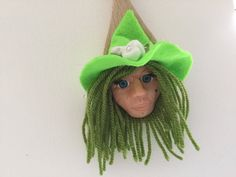 Kitchen witch on wooden spoon Witch Face, Kitchen Witch, Wooden Spoons, Polymer Clay, My Etsy Shop, Handmade, Wooden Spoon, Craft, Modeling Dough