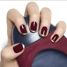28 Cool Burgundy Nail Designs - London Beep