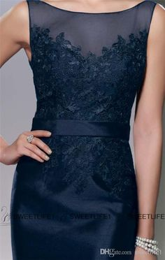 2015 Lace Mother of the Bride Dresses with Jacket Sheer Scoop Mother's Dresses Plus Size Knee Length Dark Navy Mother of the Groom Gowns