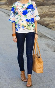 ONE little MOMMA: Watercolor Florals and Dark Denim