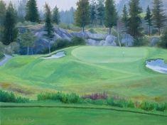 Predator Resort The Ridge Course Hole 5 by Rod McAuley Oil ~ 9 x 12