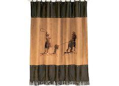 Team Roper Horse Shower Curtain - Your Western Decor