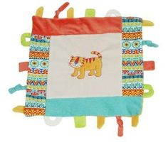 Tiger Multifunction Blankie Teether Loops Knots Maison Chic  Price : $22.99 http://www.reallylovethat.com/Multifunction-Blankie-Teether-Maison-Chic/dp/B00CKXYVZ0