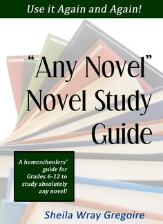 Any Novel Novel Study Guide, getting this for Abbie... she has a list of Novels that have no study guides.... this is awesome!!