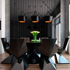 If you want some modern dining rooms design ideas, you can consider reading this article. This article will provide you some modern dining rooms design Dining Room Walls, Dining Room Sets, Dining Room Design, Room Chairs, Elegant Living Room, Modern Dining Chairs, Dining Tables, Modern Kitchen Design, Architecture Design