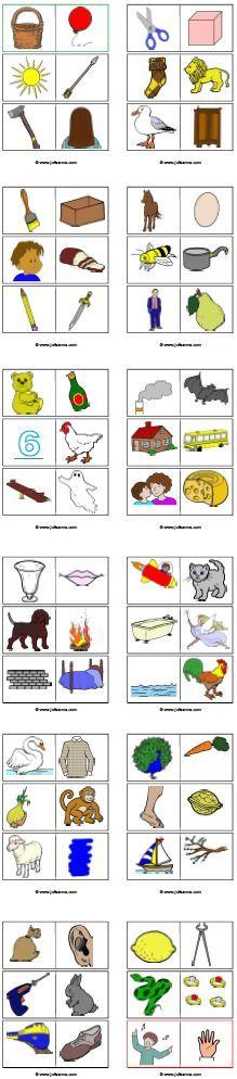 Met kinderen uit het eerste leerjaar kun je rijmdomino spelen. De leerlingen leren spelenderwijs rijmen.