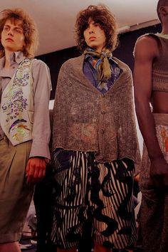 Backstage at Vivienne Westwood SS17 Menswear