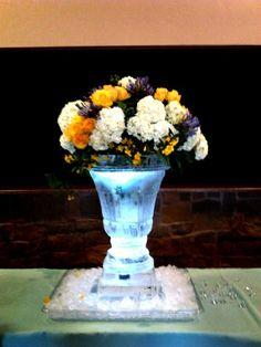 Ice vase for a Mother's Day floral arrangement.