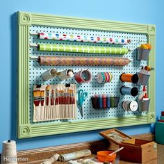 All pegboard has holes with 1-in. spacing, but there are two thicknesses and two hole sizes available.