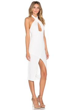 Toby Heart Ginger x Love Indie Doll Cross Front Midi Dress in White