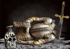 Still Life Art, Sword, Alchemy, Weapon, Metal, Armour, Prints, Poster, Military