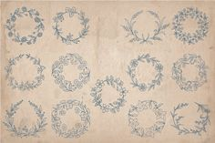 Hand Drawn Wreaths and Frames - Objects