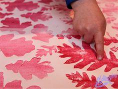 DIY d'Armistice avec des feuilles mortes | Belette Print