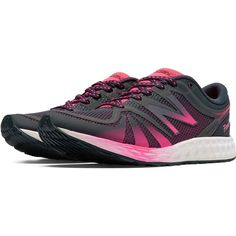New Balance Women's 822v2 Black with Pink Cross Training Shoes ($100) ❤ liked on Polyvore featuring shoes, athletic shoes, black cross training shoes, new balance footwear, cross training shoes, cross trainer shoes and crosstraining shoes