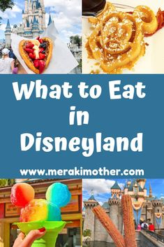 """When you're in the """"Happiest Place On Earth,"""" you can't miss eating some of their best-known treats. Neither should you allow yourself to miss their lesser-known goodies. Read on for our recommendations on what you should have in Disneyland. Disneyland Restaurants, Disneyland Food, Disneyland California, Family Vacation Destinations, Disney Vacations, Disney Trips, Disney Travel, Travel Destinations, Camping With Kids"""