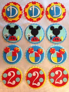 12 Edible Mickey Mouse Clubhouse Cupcake Toppers - Disney - Birthday Party - Decoration - Fondant - Cupcake by FondantandFrosting on Etsy https://www.etsy.com/listing/210858573/12-edible-mickey-mouse-clubhouse-cupcake