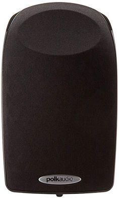 Polk Audio High Performance Satellite Speaker - Black, Single speaker - Priced and sold individually Stereo Headphones, Wireless Speakers, Speaker Price, Satellite Speakers, Home Theater Speakers, Black Singles, Loudspeaker, Art And Technology, Audio