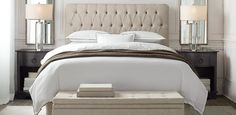 Looks like the headboard you had in one of the mood boards. love. this one is from Restoration Hardware
