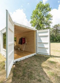 Online retailer Needs & Wants Studios has collaborated with a Toronto architecture student to transform a shipping container into a mobile boutique that serves as the brand's first physical store