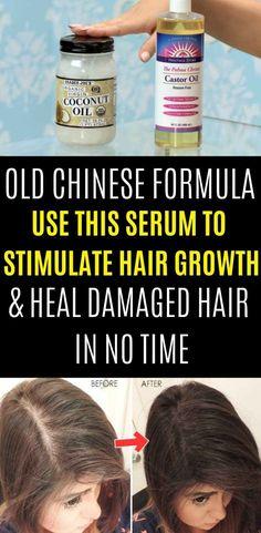 Old Chinese Formula Use This Serum To Stimulate Hair Growth & Heal Damaged Hair In No Time - Hair Care Hair Growth Tips, Natural Hair Growth, Natural Hair Styles, Herbs For Hair Growth, Natural Beauty, Natural Fashion, Best Hair Loss Treatment, Hair Growth Treatment, Hair Treatments